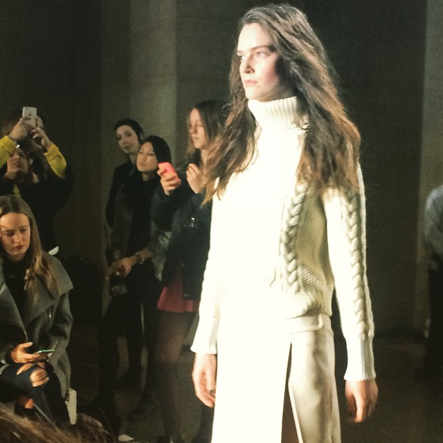 #LFW @topshop channeling Ali MacGraw #70s #cableknits #livetrends #doubleseasoning