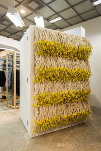 DSM 10th Anniversary fitting room by Christian Astuguevieille titled 'The Waterfall' image courtesy of Mark Blower