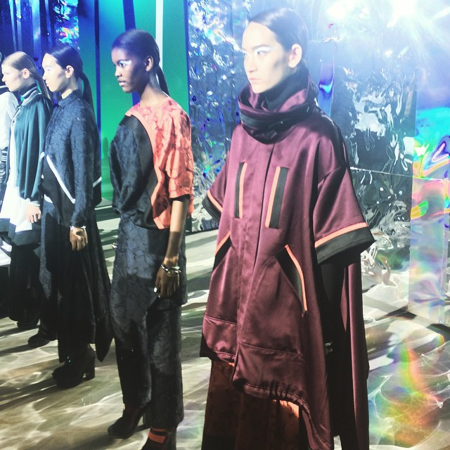 Reflections on modern chinoiserie @kenzo #pfw #AW15 show notes say…