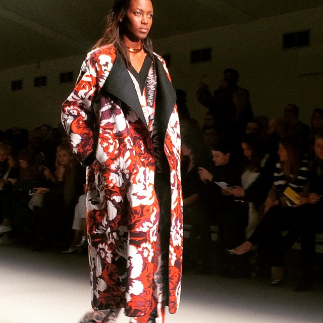 Some real #luxe on the #LFW runway from Lucas Nascimento…