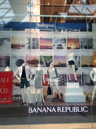 Banana Republic Instagram window by Victoria Waterman