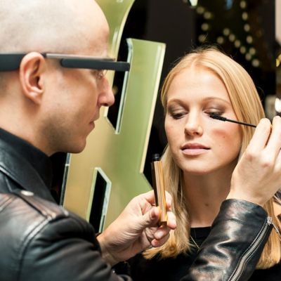 YSL Google Glass make-up tutorial by Fred-Letailleur, at Selfridges