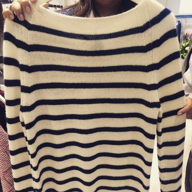 One for you @disneyrollergirl #bretonforever #cashmere #JigsawAW15 #sneakpeak ⚓️⛵️