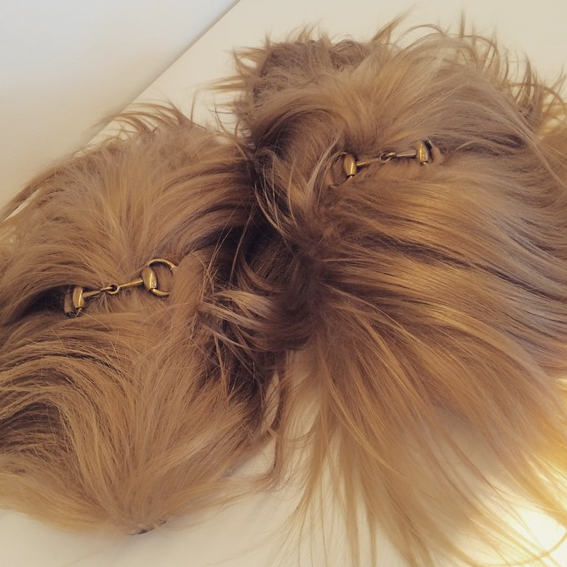 Furry feet at @Gucci for AW15 #hurryupzara