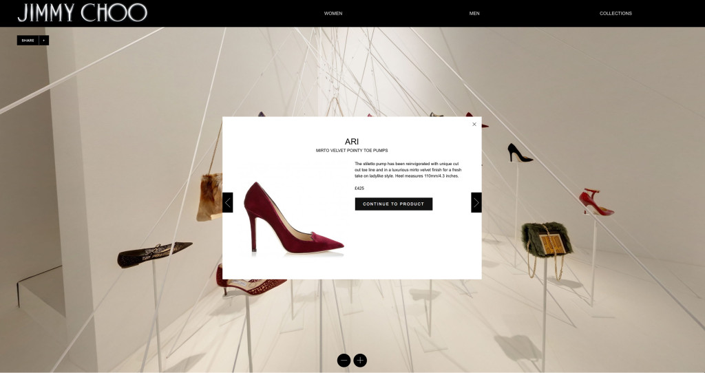 Jimmy Choo virtual showroom in association with Avenue Imperial